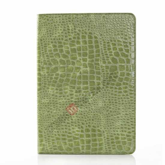 cheap Crocodile Skin Pattern Leather Stand Case for Samsung Galaxy Tab Pro 12.2 P900 - Green