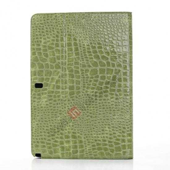 top quality Crocodile Skin Pattern Leather Stand Case for Samsung Galaxy Tab Pro 12.2 P900 - Green