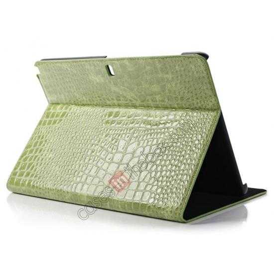 wholesale Crocodile Skin Pattern Leather Stand Case for Samsung Galaxy Tab Pro 12.2 P900 - Green