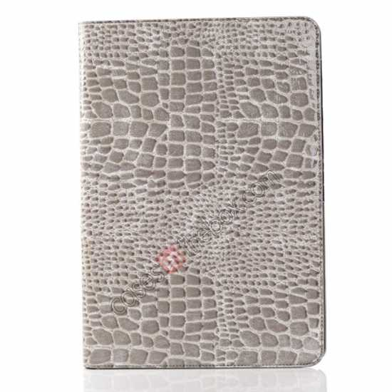 cheap Crocodile Skin Pattern Leather Stand Case for Samsung Galaxy Tab Pro 12.2 P900 - Grey