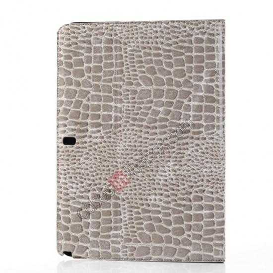 top quality Crocodile Skin Pattern Leather Stand Case for Samsung Galaxy Tab Pro 12.2 P900 - Grey