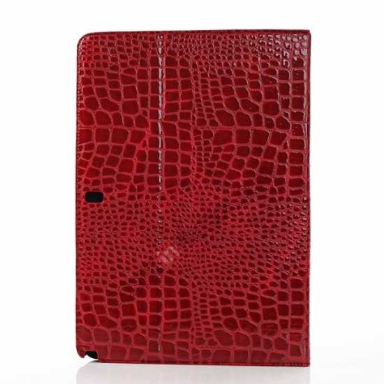 top quality Crocodile Skin Pattern Leather Stand Case for Samsung Galaxy Tab Pro 12.2 P900 - Red