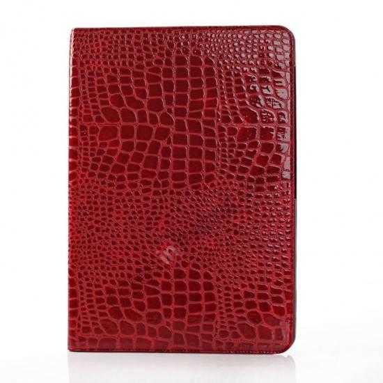 cheap Crocodile Skin Pattern Leather Stand Case for Samsung Galaxy Tab Pro 12.2 P900 - Red