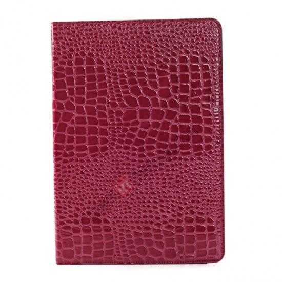 cheap Crocodile Skin Pattern Leather Stand Case for Samsung Galaxy Tab Pro 12.2 P900 - Rose red