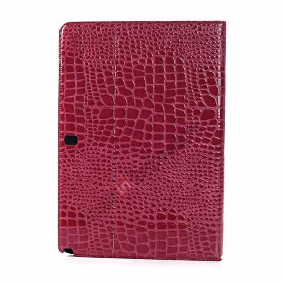 top quality Crocodile Skin Pattern Leather Stand Case for Samsung Galaxy Tab Pro 12.2 P900 - Rose red