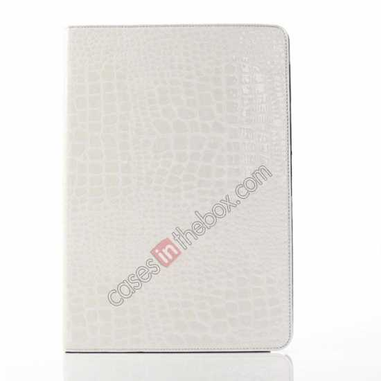 cheap Crocodile Skin Pattern Leather Stand Case for Samsung Galaxy Tab Pro 12.2 P900 - White