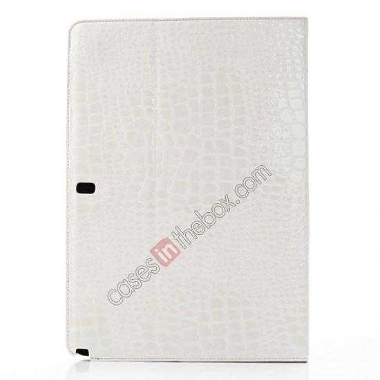 top quality Crocodile Skin Pattern Leather Stand Case for Samsung Galaxy Tab Pro 12.2 P900 - White