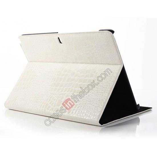 wholesale Crocodile Skin Pattern Leather Stand Case for Samsung Galaxy Tab Pro 12.2 P900 - White