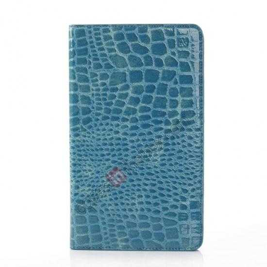 cheap Crocodile Skin Pattern Leather Stand Case for Samsung Galaxy Tab Pro 8.4 T320 - Blue