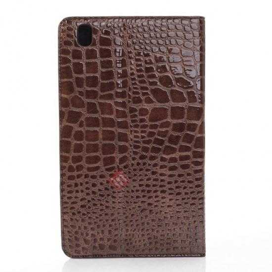 top quality Crocodile Skin Pattern Leather Stand Case for Samsung Galaxy Tab Pro 8.4 T320 - Brown