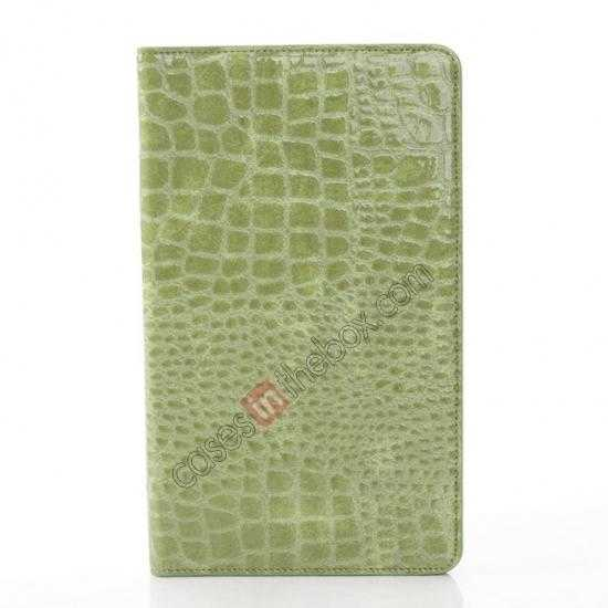 cheap Crocodile Skin Pattern Leather Stand Case for Samsung Galaxy Tab Pro 8.4 T320 - Green