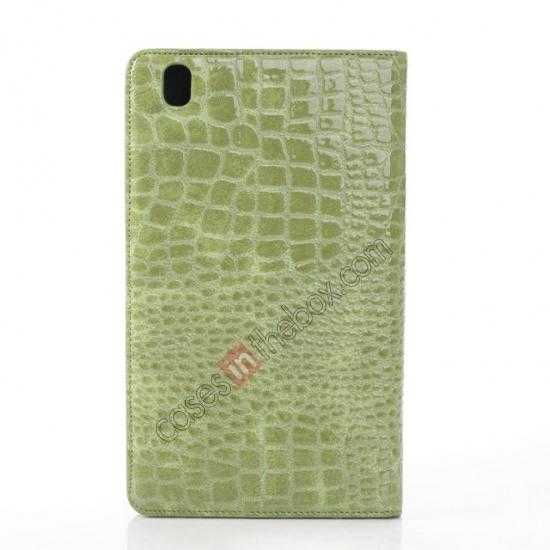 top quality Crocodile Skin Pattern Leather Stand Case for Samsung Galaxy Tab Pro 8.4 T320 - Green