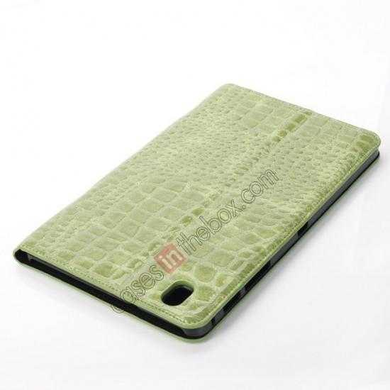 best price Crocodile Skin Pattern Leather Stand Case for Samsung Galaxy Tab Pro 8.4 T320 - Green