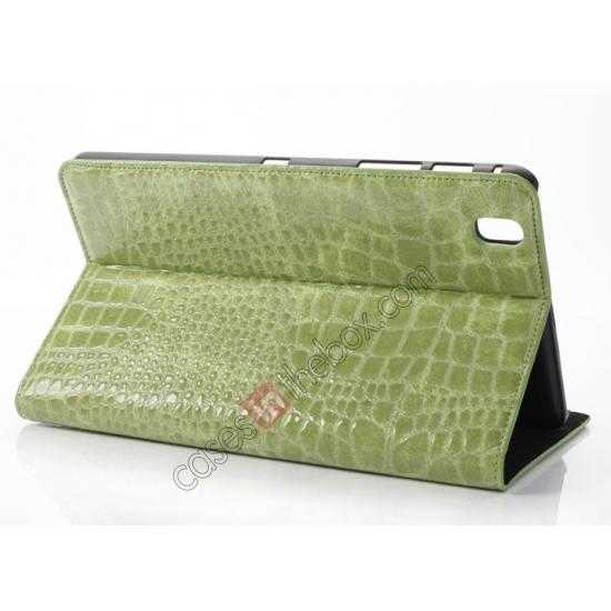 wholesale Crocodile Skin Pattern Leather Stand Case for Samsung Galaxy Tab Pro 8.4 T320 - Green