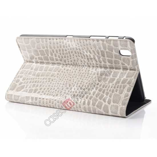 wholesale Crocodile Skin Pattern Leather Stand Case for Samsung Galaxy Tab Pro 8.4 T320 - Grey