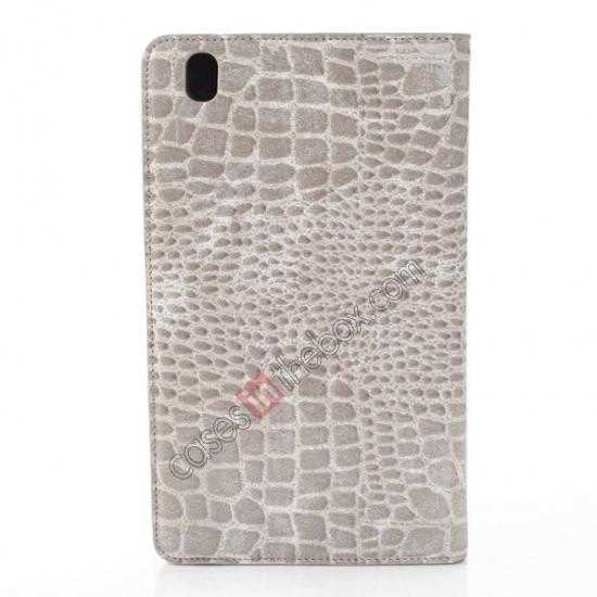 top quality Crocodile Skin Pattern Leather Stand Case for Samsung Galaxy Tab Pro 8.4 T320 - Grey