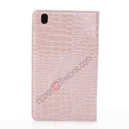 top quality Crocodile Skin Pattern Leather Stand Case for Samsung Galaxy Tab Pro 8.4 T320 - Pink