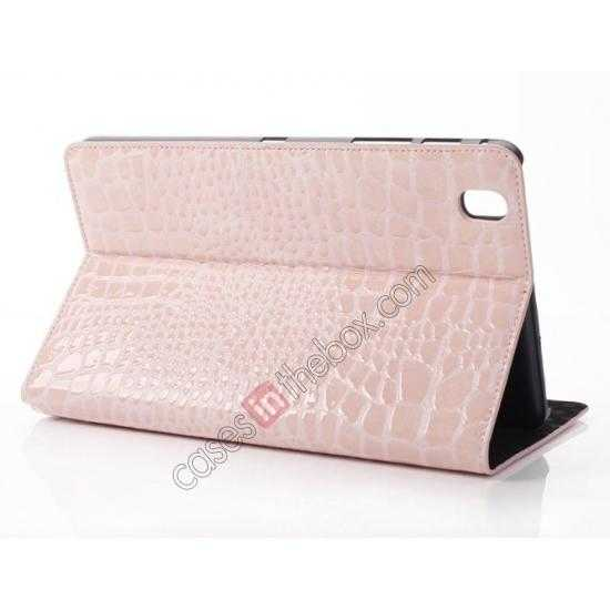 wholesale Crocodile Skin Pattern Leather Stand Case for Samsung Galaxy Tab Pro 8.4 T320 - Pink