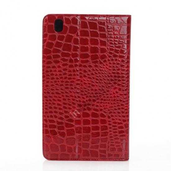 top quality Crocodile Skin Pattern Leather Stand Case for Samsung Galaxy Tab Pro 8.4 T320 - Red