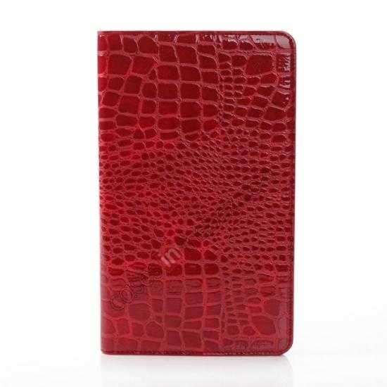 cheap Crocodile Skin Pattern Leather Stand Case for Samsung Galaxy Tab Pro 8.4 T320 - Red