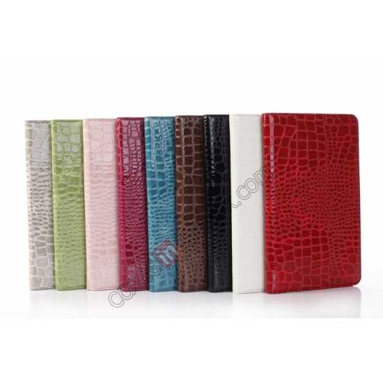 on sale Crocodile Skin Pattern Leather Stand Case for Samsung Galaxy Tab Pro 8.4 T320 - Red