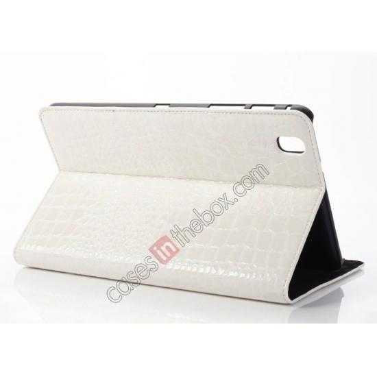 wholesale Crocodile Skin Pattern Leather Stand Case for Samsung Galaxy Tab Pro 8.4 T320 - White