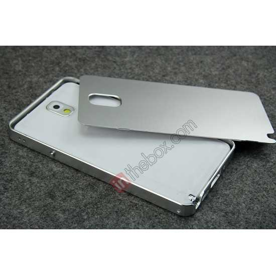 top quality Deluxe Aluminum Metal Case With Tempered Glass For Samsung Galaxy Note 3 N9000 - Black