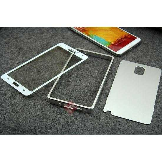 on sale Deluxe Aluminum Metal Case With Tempered Glass For Samsung Galaxy Note 3 N9000 - Golden