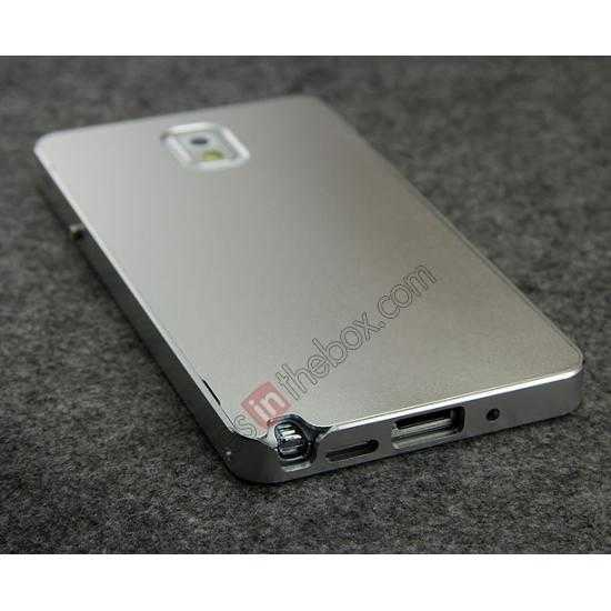 high quanlity Deluxe Aluminum Metal Case With Tempered Glass For Samsung Galaxy Note 3 N9000 - Silver