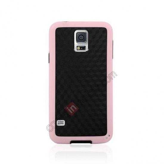 discount Dual Color Soft TPU Gel Silicone Back Case Cover for Samsung Galaxy S5 - Pink