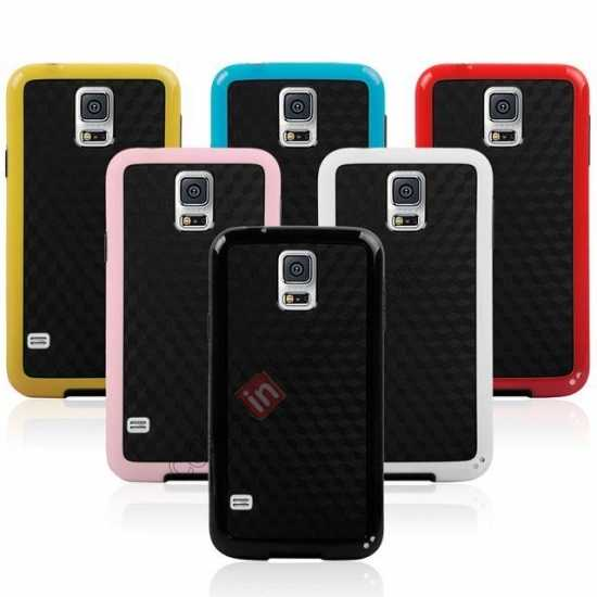 on sale Dual Color Soft TPU Gel Silicone Back Case Cover for Samsung Galaxy S5 - Red