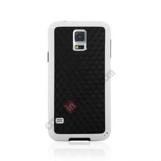 discount Dual Color Soft TPU Gel Silicone Back Case Cover for Samsung Galaxy S5 - White