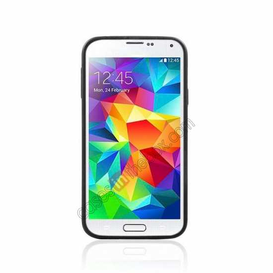 cheap Dual Color Soft TPU Gel Silicone Back Case Cover for Samsung Galaxy S5 - White