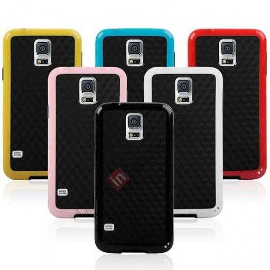 on sale Dual Color Soft TPU Gel Silicone Back Case Cover for Samsung Galaxy S5 - White