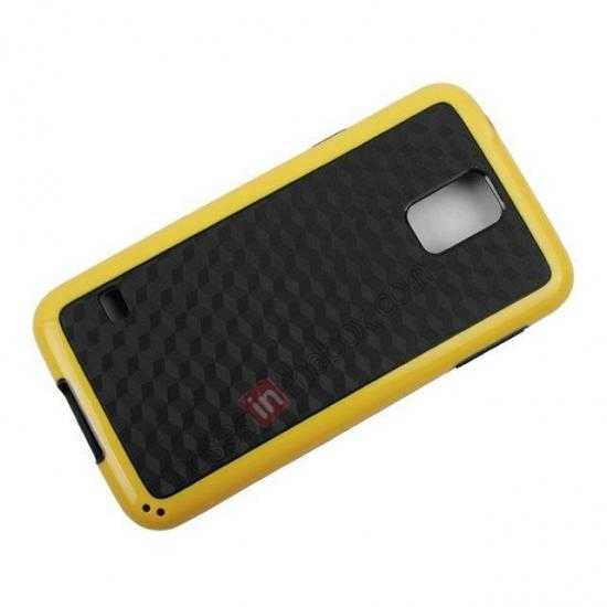 on sale Dual Color Soft TPU Gel Silicone Back Case Cover for Samsung Galaxy S5 - Yellow