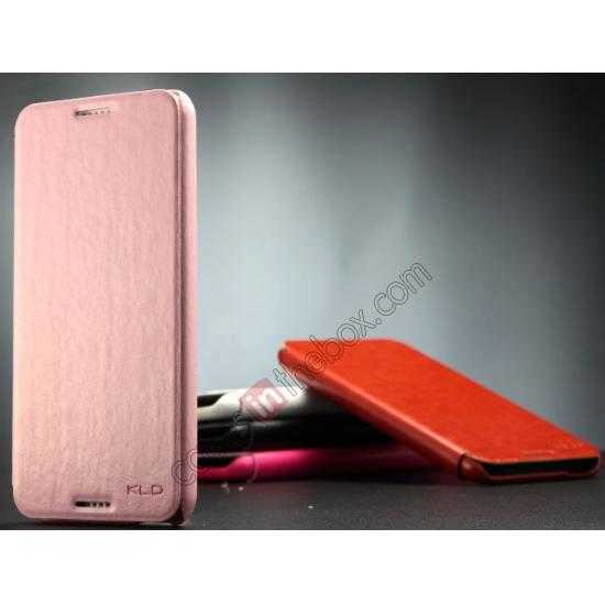 discount Enland Series Luxury Book Flip Wallet Leather Case For HTC Desire 816 - Pink