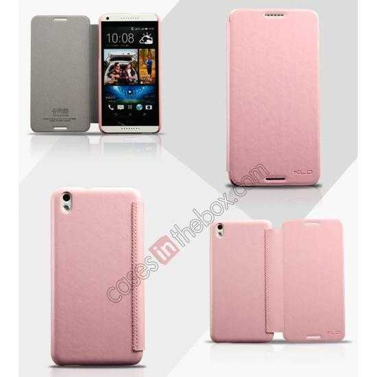 wholesale Enland Series Luxury Book Flip Wallet Leather Case For HTC Desire 816 - Pink