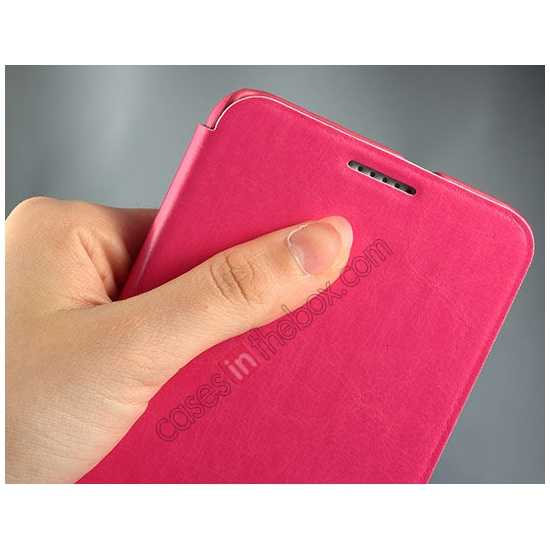 top quality Enland Series Luxury Book Flip Wallet Leather Case For HTC Desire 816 - Pink