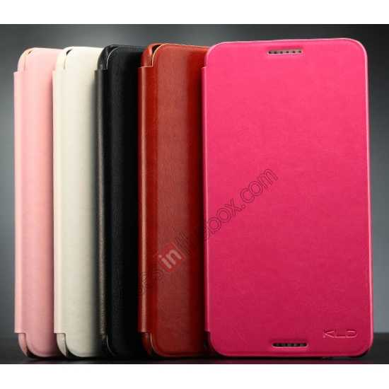 on sale Enland Series Luxury Book Flip Wallet Leather Case For HTC Desire 816 - Pink