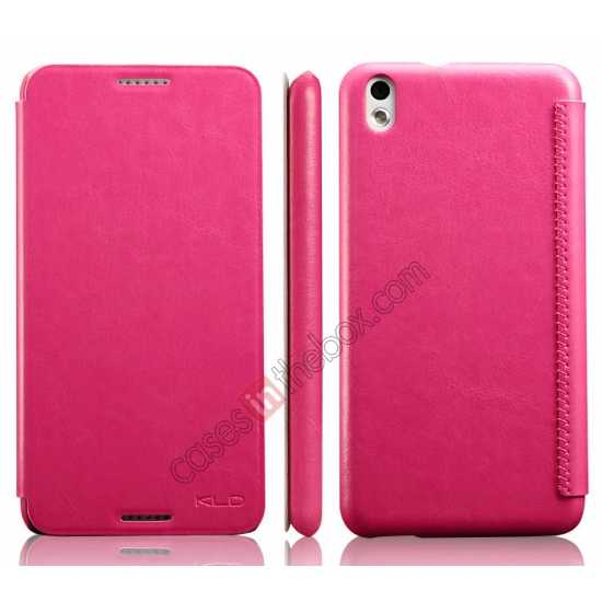discount Enland Series Luxury Book Flip Wallet Leather Case For HTC Desire 816 - Rose