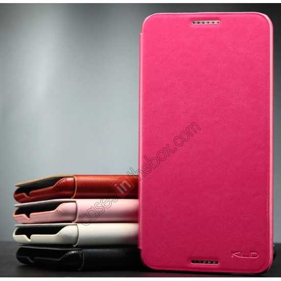 cheap Enland Series Luxury Book Flip Wallet Leather Case For HTC Desire 816 - Rose