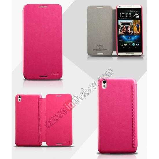 wholesale Enland Series Luxury Book Flip Wallet Leather Case For HTC Desire 816 - Rose
