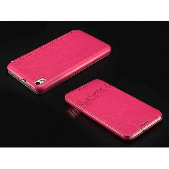 top quality Enland Series Luxury Book Flip Wallet Leather Case For HTC Desire 816 - Rose