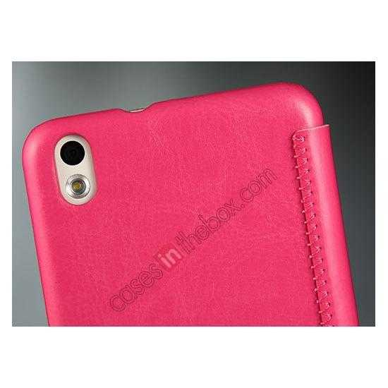 low price Enland Series Luxury Book Flip Wallet Leather Case For HTC Desire 816 - Rose