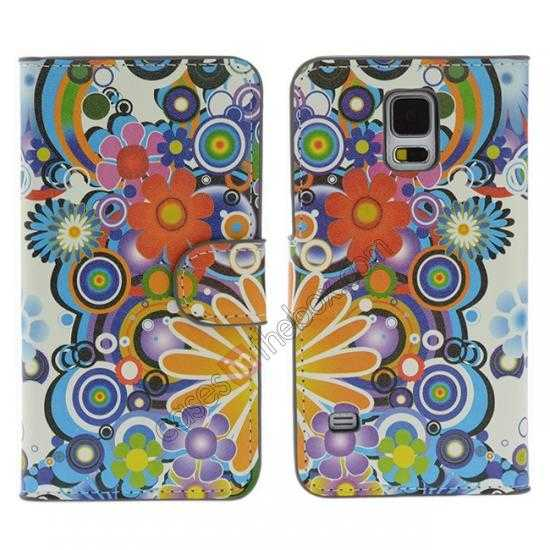 wholesale Fantasy Pattern Wallet Style Stand Leather Case For Samsung Galaxy S5