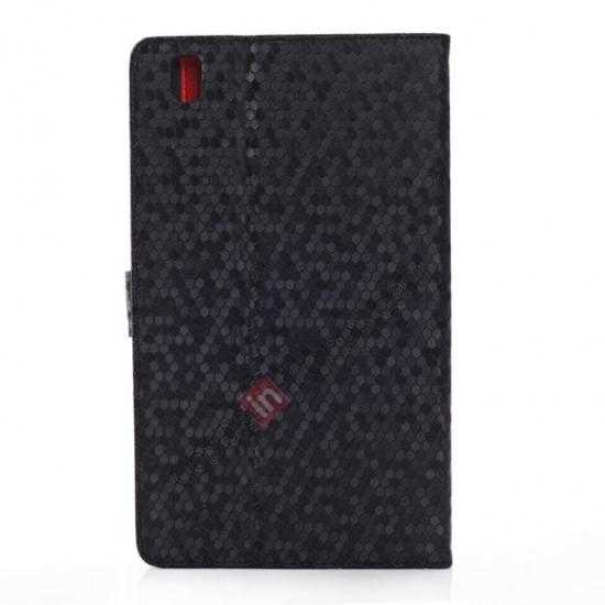 cheap Fashion Diamond Pattern Folio Leather Flip Stand Case for Samsung Galaxy Tab Pro 8.4 T320 - Black