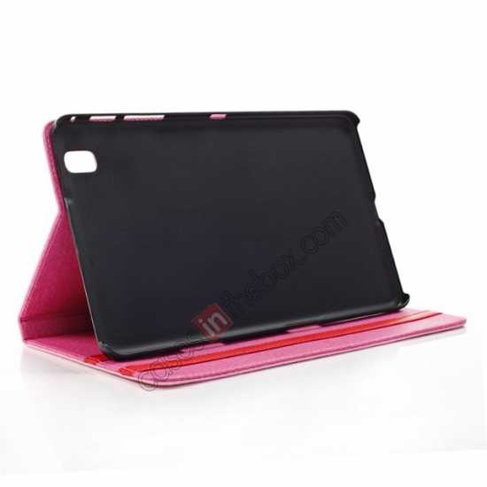 best price Fashion Diamond Pattern Folio Leather Flip Stand Case for Samsung Galaxy Tab Pro 8.4 T320 - Black