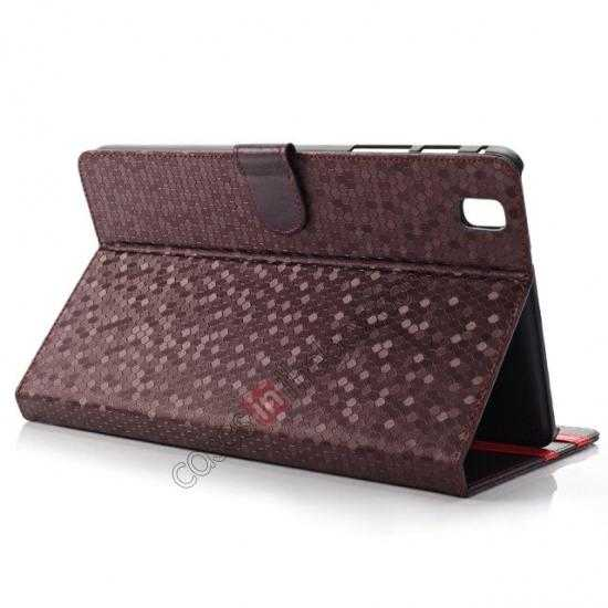 wholesale Fashion Diamond Pattern Folio Leather Flip Stand Case for Samsung Galaxy Tab Pro 8.4 T320 - Purple