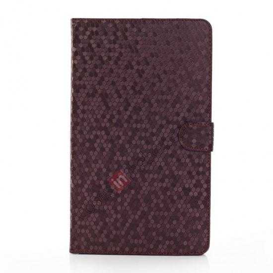 discount Fashion Diamond Pattern Folio Leather Flip Stand Case for Samsung Galaxy Tab Pro 8.4 T320 - Purple
