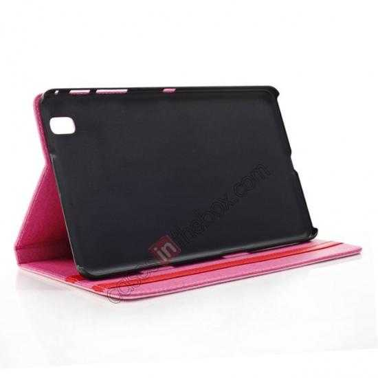 best price Fashion Diamond Pattern Folio Leather Flip Stand Case for Samsung Galaxy Tab Pro 8.4 T320 - Purple